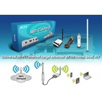 UNIVERSAL WIFI / INTERNET RANGE EXTENDER KIT FOR HOME, BOAT,AND RVS.